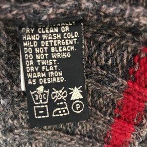 Eddie Bauer Sweaters - Eddie Bauer Fair Isle Wool Sweater Gray Red Large